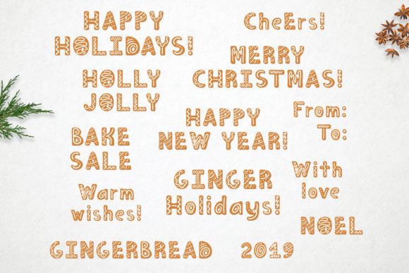 Print on Demand: Gingerbread Display Font By Alisovna - Image 12