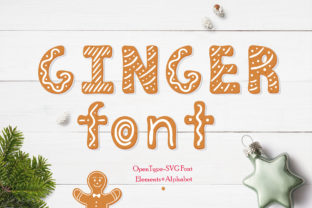 Gingerbread Font By Alisovna