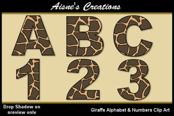 Print on Demand: Giraffe Alphabet & Numbers Graphic Illustrations By Aisne