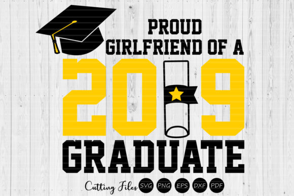 Print on Demand: Girlfriend of a Graduate Graduation SVG Graphic Graphic Templates By HD Art Workshop