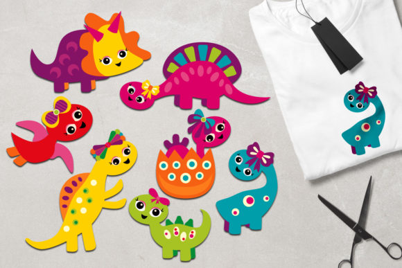 Print on Demand: Girly Dinosaur Graphic Illustrations By Revidevi