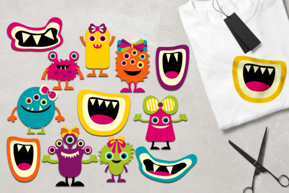 Print on Demand: Girly Monsters Graphic Illustrations By Revidevi