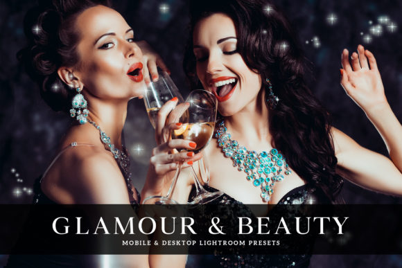 Print on Demand: Glamour & Beauty Lightroom Presets Graphic Actions & Presets By Creative Tacos