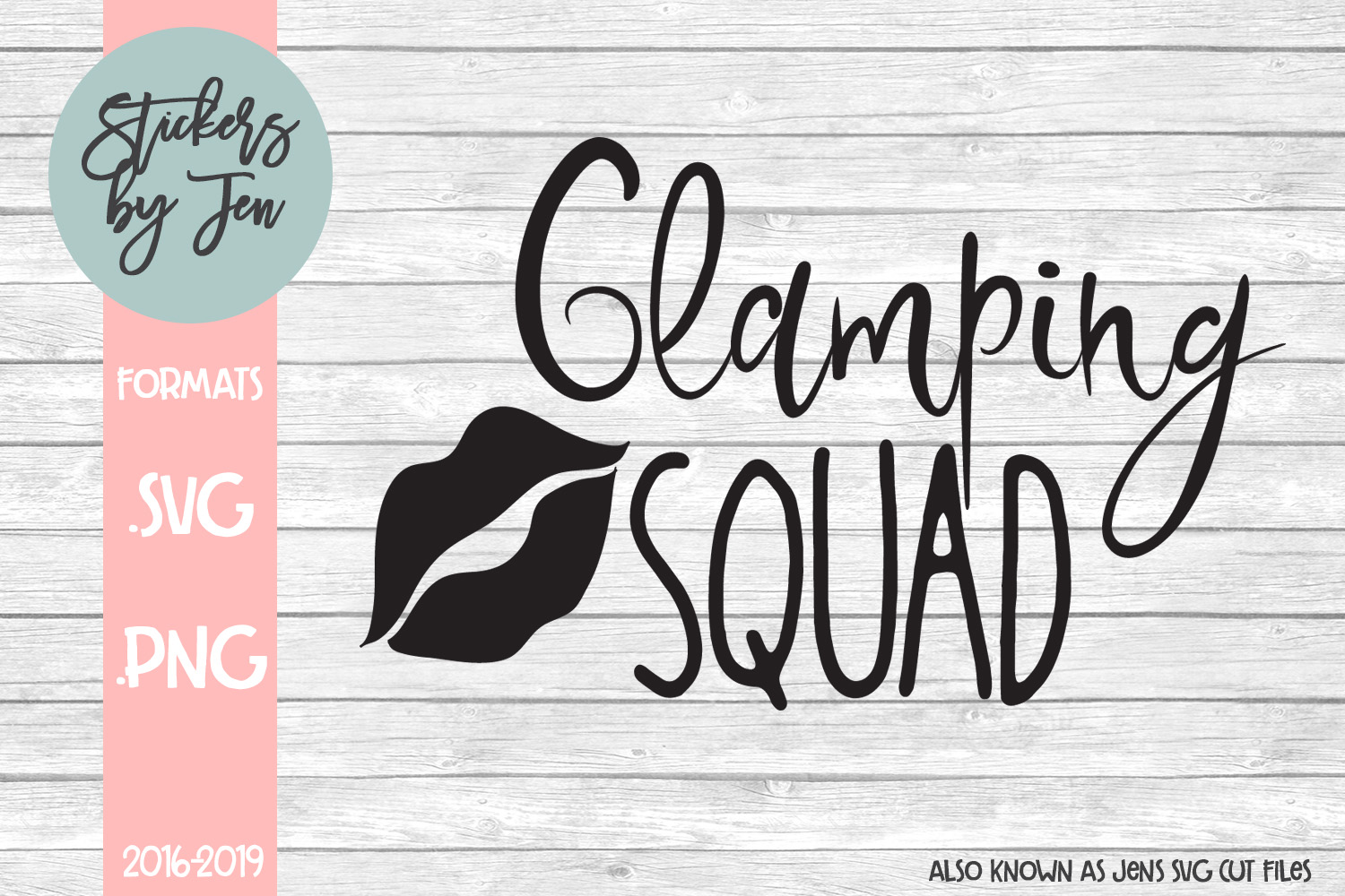 Download Free Glamping Squad Graphic By Stickers By Jennifer Creative Fabrica for Cricut Explore, Silhouette and other cutting machines.