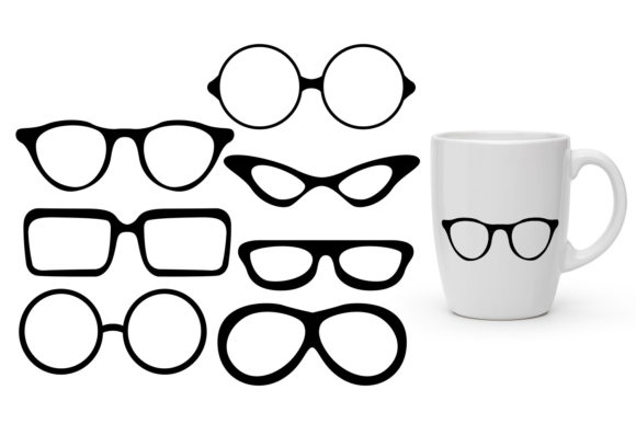 Print on Demand: Glasses Graphic Illustrations By Revidevi