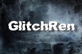 GlitchRen Font By IWM Design