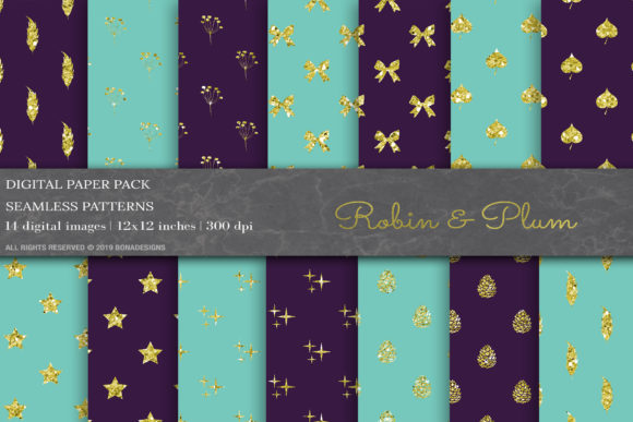 Glitter Geometric Digital Papers Graphic Patterns By BonaDesigns