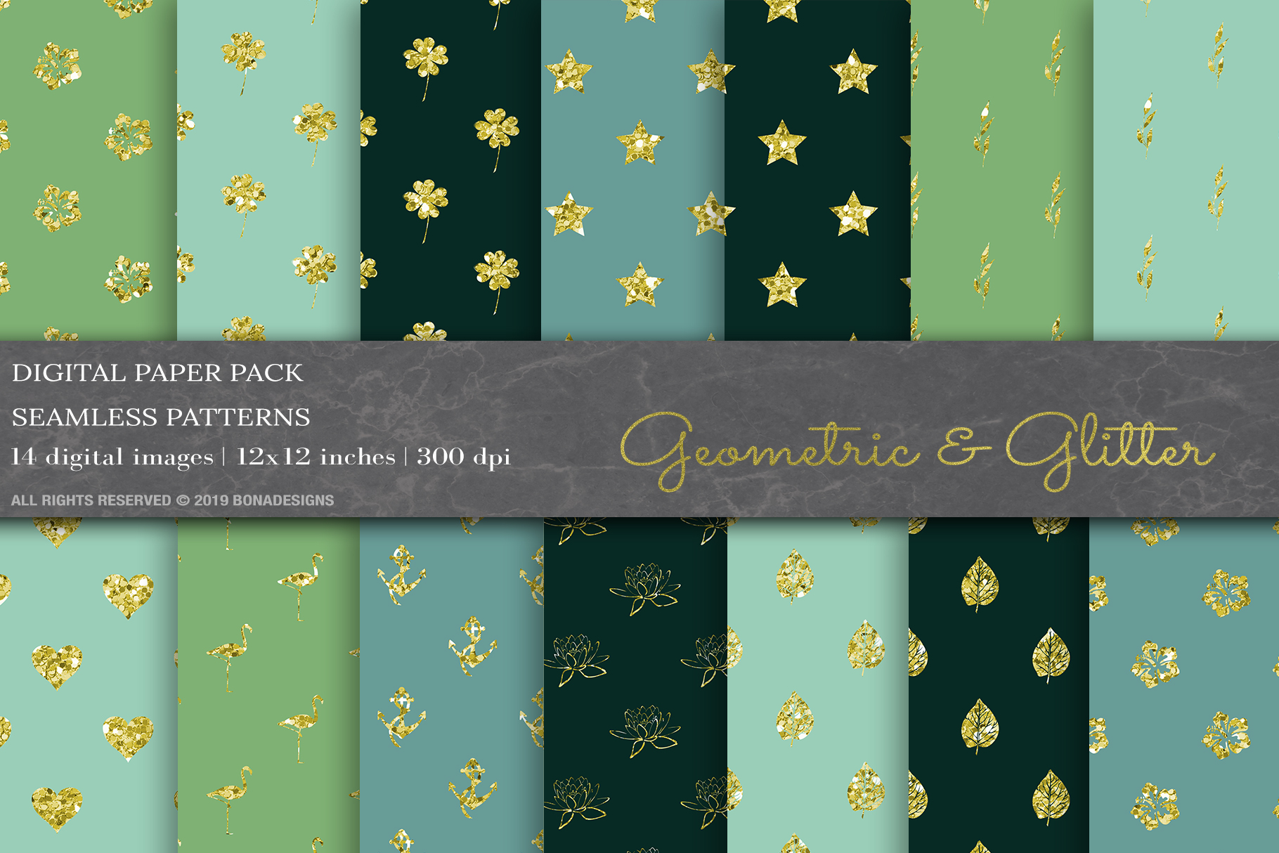 Download Free Glitter Geometric Digital Papers Graphic By Bonadesigns for Cricut Explore, Silhouette and other cutting machines.