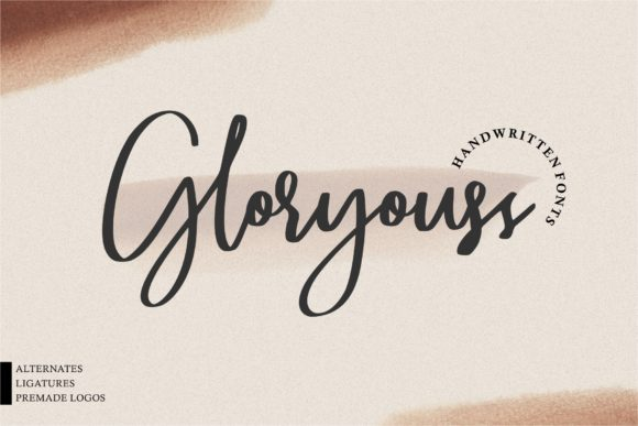 Print on Demand: Gloryouss Script & Handwritten Font By goodjavastudio