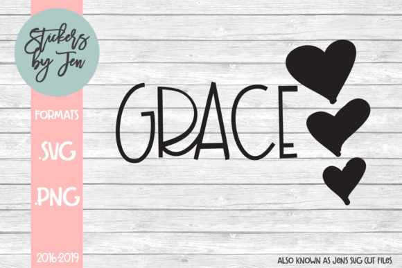 Download Free God Is Grace Svg Graphic By Stickers By Jennifer Creative Fabrica for Cricut Explore, Silhouette and other cutting machines.