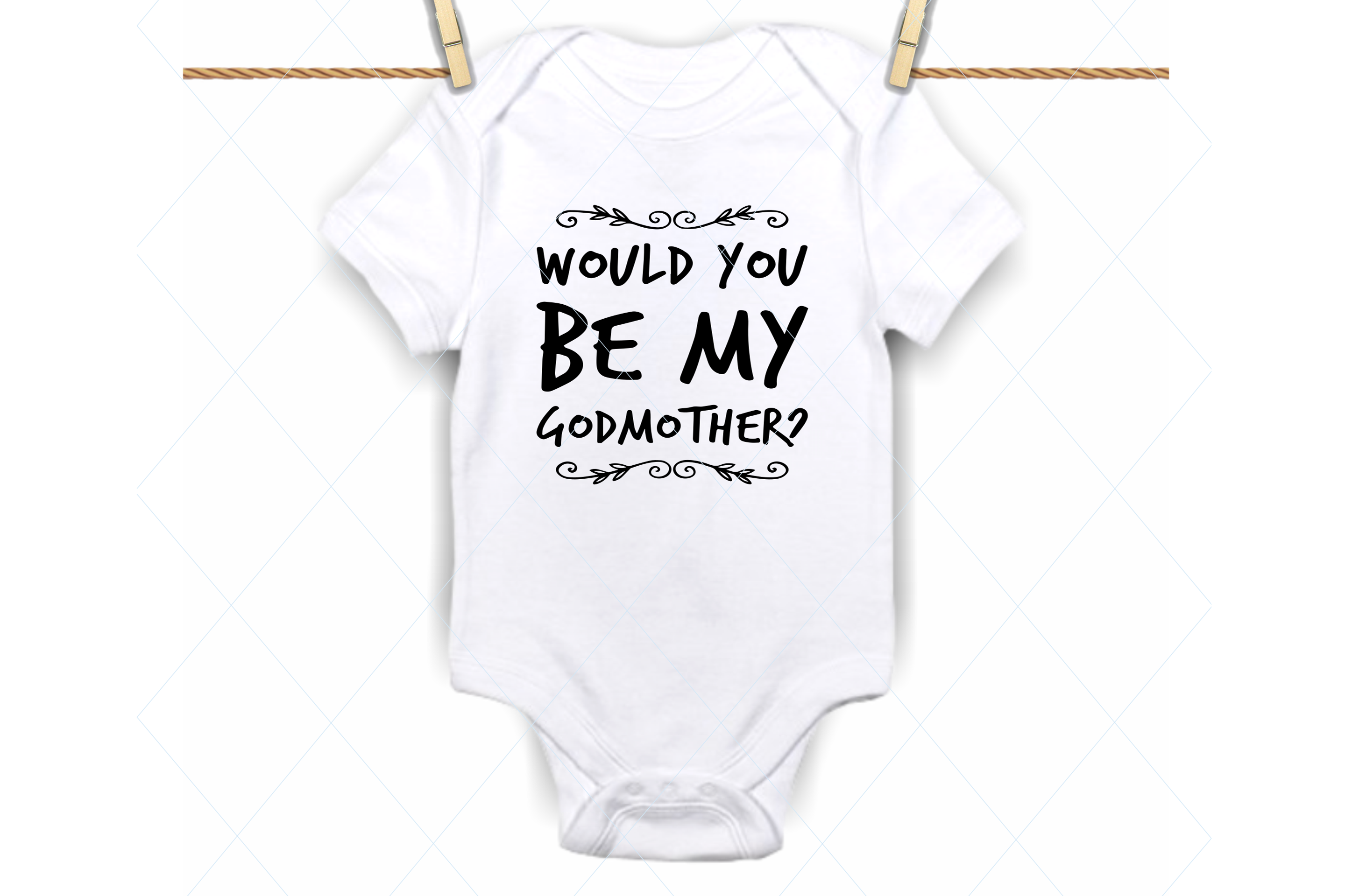 Download Free Godmother Baby Onesie Graphic By Thelovebyrds Creative Fabrica for Cricut Explore, Silhouette and other cutting machines.