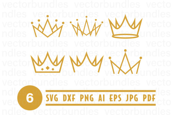 Download Free Gold Crown Clip Art Svg Graphic By Vectorbundles Creative Fabrica SVG Cut Files