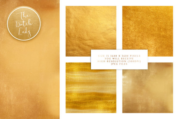Gold Foil Texture Scrapbook Papers Graphic Download