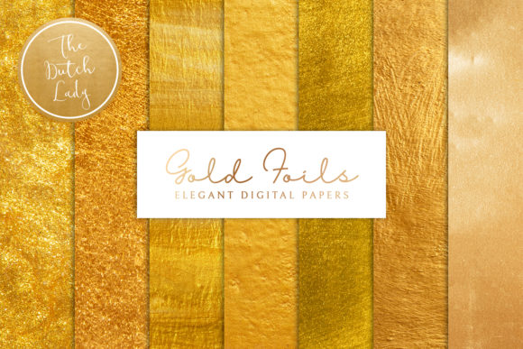 Print on Demand: Gold Foil Texture Scrapbook Papers Graphic Textures By daphnepopuliers