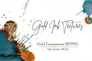 Gold Ink Textures Graphic By artisssticcc