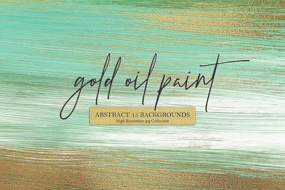 Gold Oil Oil Paint & Abstract Background