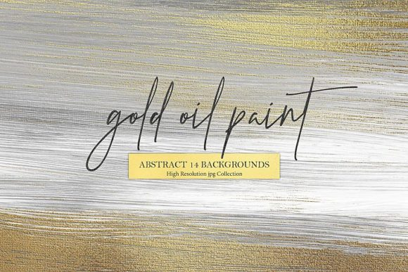 Gold Oil Paint & Abstract Background