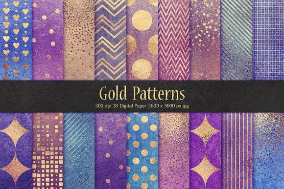 Print on Demand: Gold Patterns Graphic Patterns By Creative Paper
