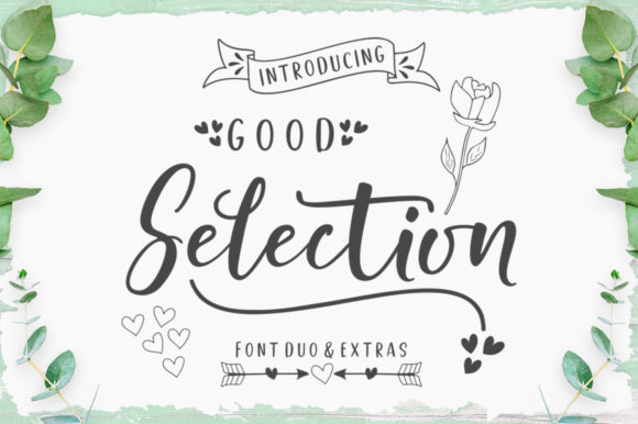 Print on Demand: Good Selection Duo Script & Handwritten Font By Megatype