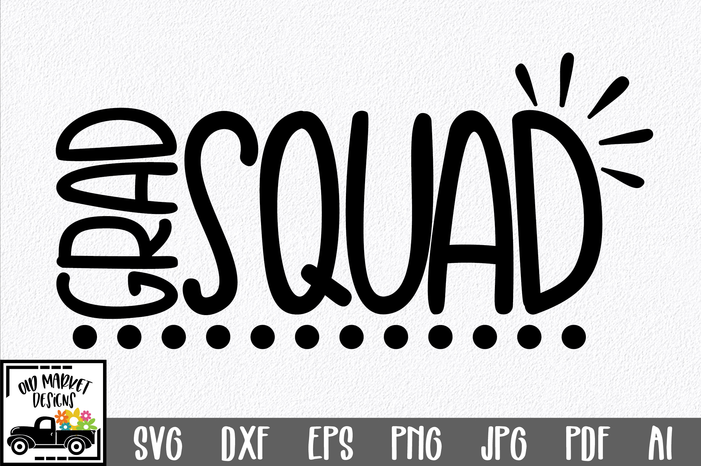 Download Free Grad Squad Cut File Graduation Graphic By Oldmarketdesigns for Cricut Explore, Silhouette and other cutting machines.