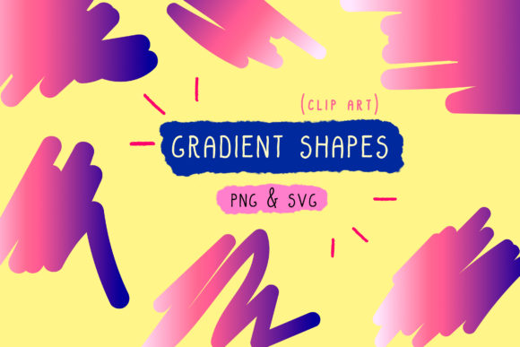 Gradient Bundle Blue, Holographic Set Graphic By Inkclouddesign