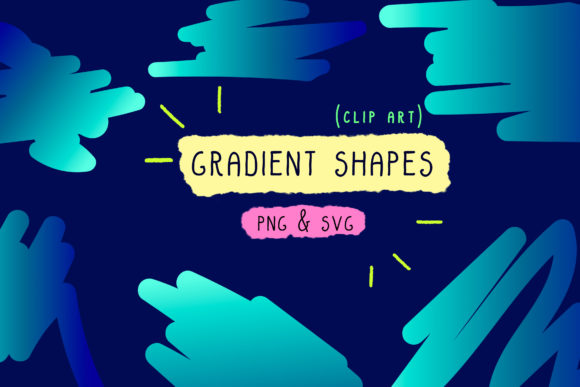 Print on Demand: Gradient Bundle Blue, Holographic Set Graphic Icons By Inkclouddesign