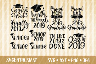 Download Free Graduation 2019 Bundle Svg Cut File Graphic By Svgenthusiast for Cricut Explore, Silhouette and other cutting machines.