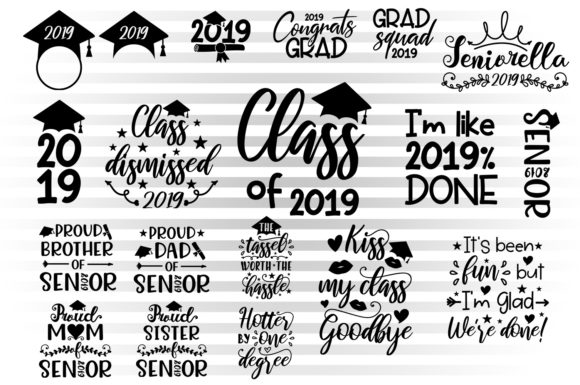 Graduation 2019 Graphic Crafts By Illustrator Guru