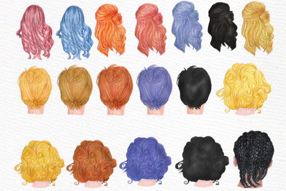 Graduation Clipart Watercolor Girls Graphic Illustrations By LeCoqDesign - Image 4