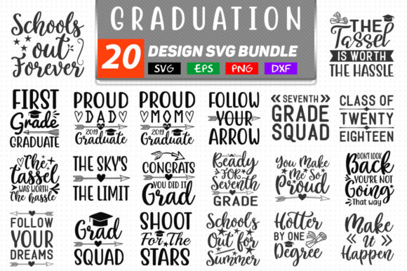 Download Free Graduation Bundle Graphic By Handmade Studio Creative Fabrica for Cricut Explore, Silhouette and other cutting machines.