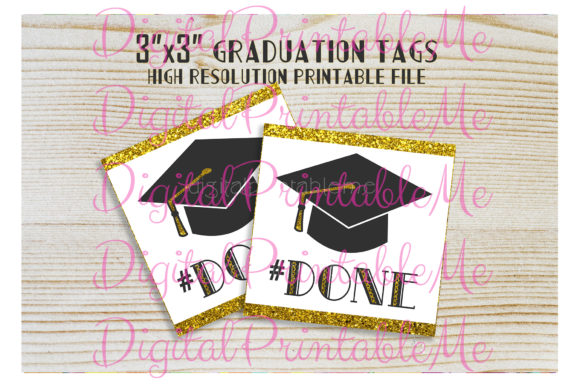 Download Free Graduation Tags Done Party Favor Gift B Graphic By SVG Cut Files