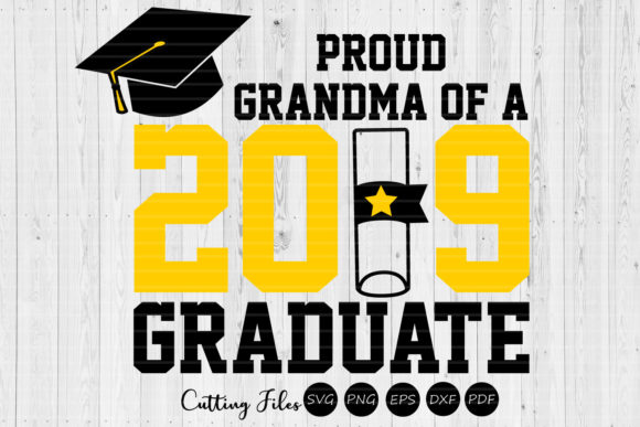 Download Free Grandma Of A Graduate Graduation Svg Graphic By Hd Art SVG Cut Files