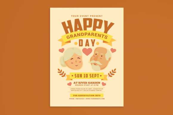 Grandparents Day Flyer Graphic Print Templates By muhamadiqbalhidayat