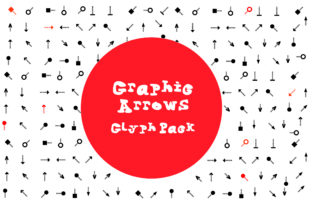 Graphic Arrows Glyph Font By GraphicsBam Fonts