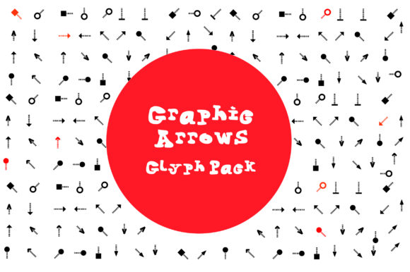 Print on Demand: BM Graphics - Graphic Arrows Glyph Dingbats Font By GraphicsBam Fonts