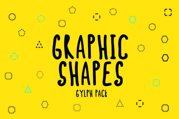 Print on Demand: BM Graphics - Graphic Shapes Glyph Dingbats Font By GraphicsBam Fonts