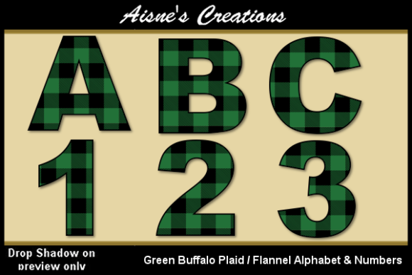 Download Free Green Buffalo Plaid Alphabet Numbers Graphic By Aisne SVG Cut Files