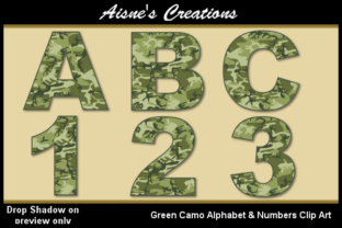 Download Free Green Camo Alphabet Numbers Graphic By Aisne Creative Fabrica for Cricut Explore, Silhouette and other cutting machines.