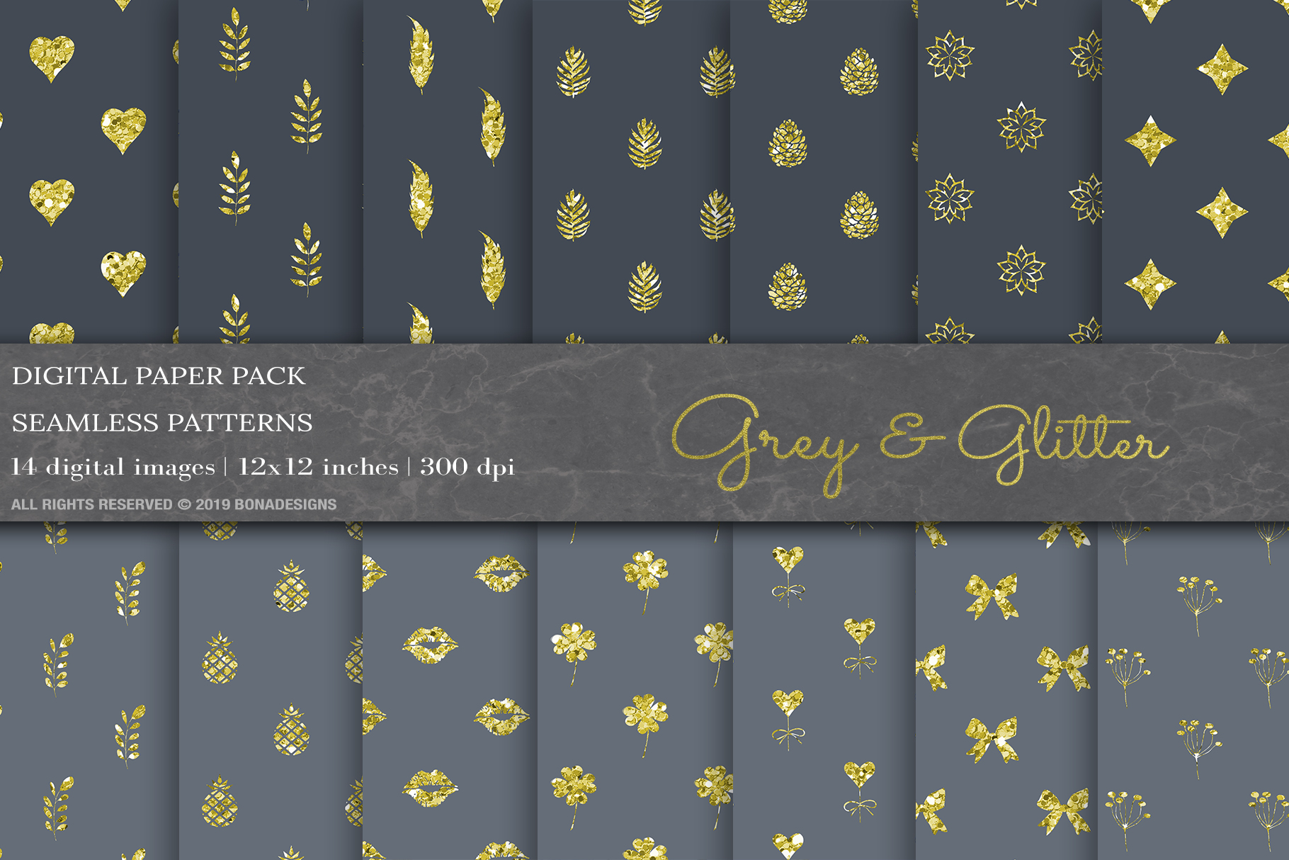 Download Free Grey Glitter Geometric Digital Papers Graphic By Bonadesigns for Cricut Explore, Silhouette and other cutting machines.