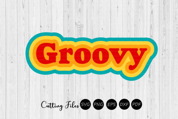 Print on Demand: Groovy | Retro Design | Graphic Graphic Templates By HD Art Workshop