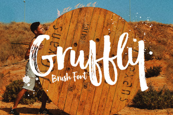 Print on Demand: Gruffly Script & Handwritten Font By Stripes Studio
