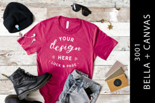 Download Free Guys Berry Bella Canvas 3001 Mockup Tee Graphic By Lockandpage for Cricut Explore, Silhouette and other cutting machines.