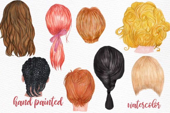 Hairstyles Clipart Custom Hairstyle Wate Graphic Illustrations By LeCoqDesign - Image 2