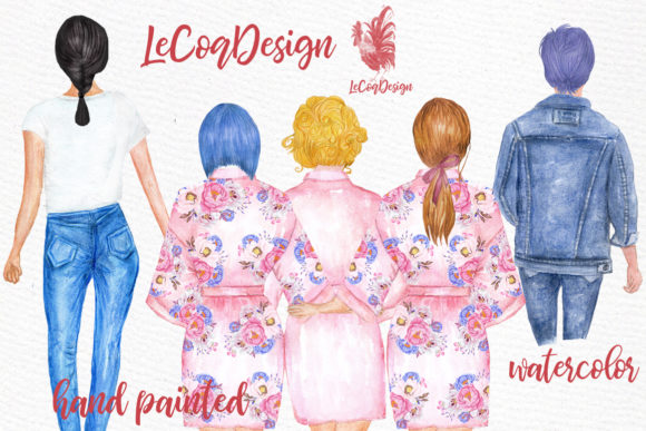 Hairstyles Clipart Custom Hairstyle Wate Graphic Illustrations By LeCoqDesign - Image 3