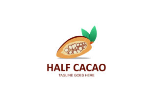 Half Cacao Logo Graphic By noory.shopper