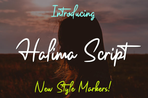Print on Demand: Halima Script Script & Handwritten Font By siwah.wah52 - Image 1