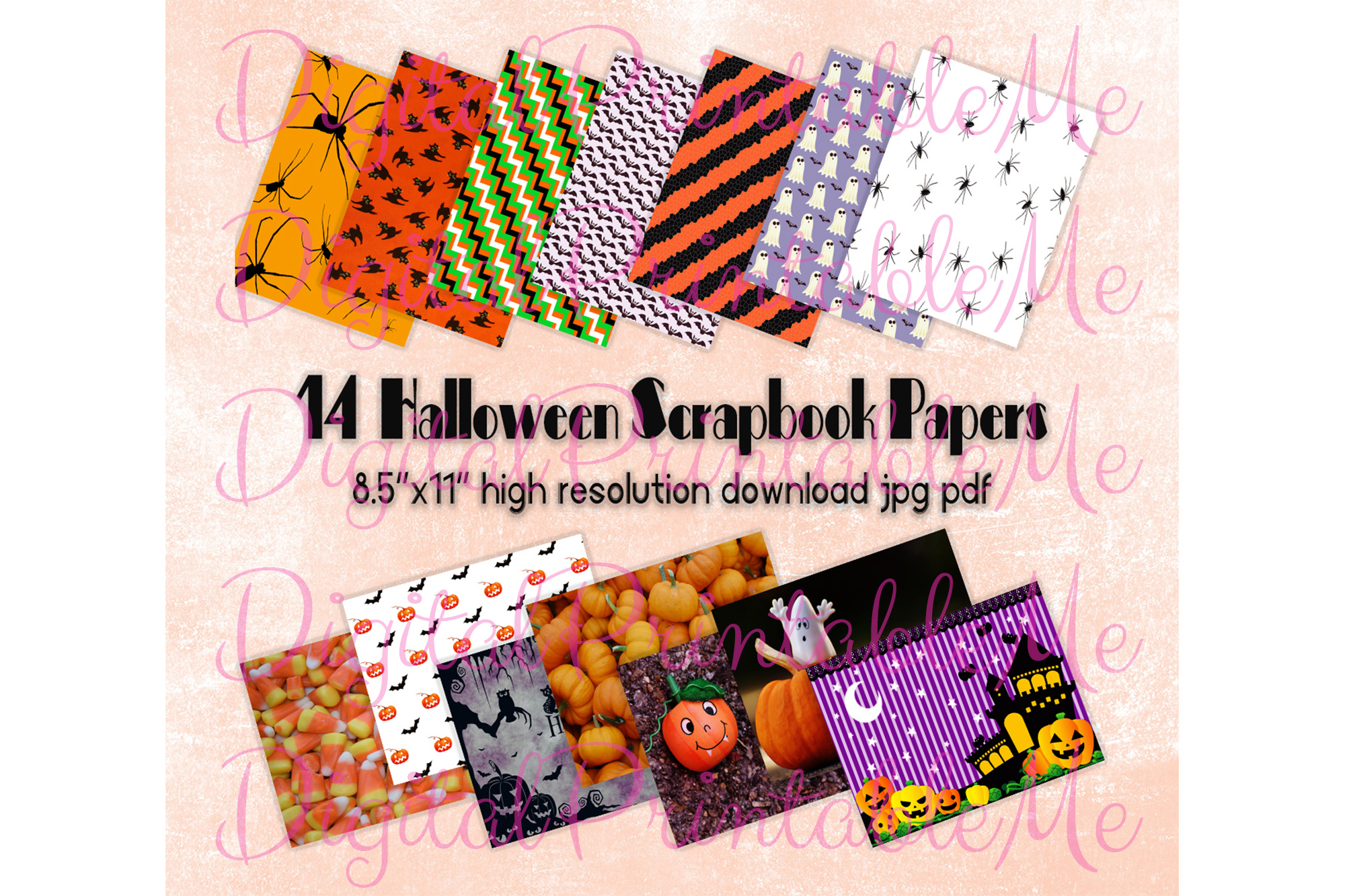 Download Free Halloween Digital Papers Pages Scrapbook Graphic By SVG Cut Files