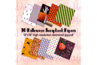 Halloween Digital Papers Pages Scrapbook Graphic By DigitalPrintableMe