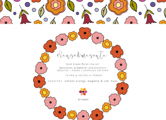 Download Free Hand Draw Flowers Clipart Graphic By Patishop Art Creative Fabrica for Cricut Explore, Silhouette and other cutting machines.