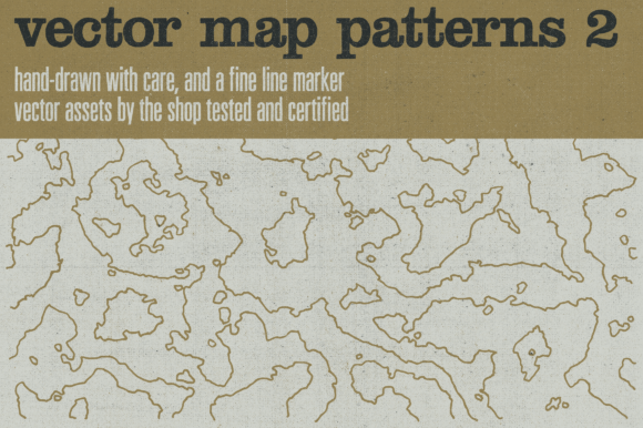 Hand-drawn Vector Maps Volume 2 Graphic Objects By theshopdesignstudio